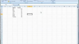 Download Creating a Macro Button in Excel 2007 Video