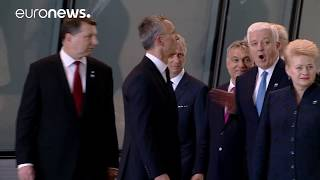 Download President Trump meets NATO and EU leaders in Brussels Video
