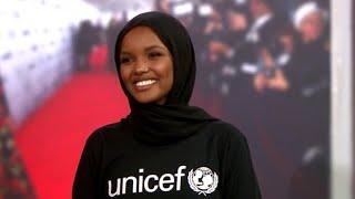 Download Hijab-wearing model Halima Aden becomes UNICEF ambassador Video