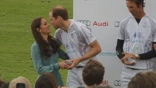 Download Kiss me Kate! William and Harry get a peck on the cheek from the Duchess of Cambridge Video