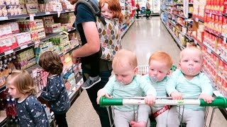 Download Grocery Shopping With Six Kids (Aged Four & Under.. Including Baby Triplets!) Video
