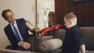 Download Iron Man, Iron Boy: New Arm Prosthetic From Robert Downey Jr. Video