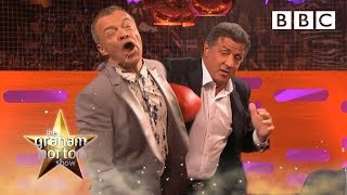 Download Sylvester Stallone punches Graham - The Graham Norton Show: Series 14 Episode 11 Preview - BBC One Video