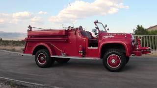 Download 1954 Ford F800 4x4 Marmon Herrington Van Pelt Fire truck Video