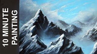 Download Painting a Misty Mountain Landscape with Acrylics in 10 Minutes! Video