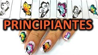 Download Dibujar 4 mariposas en tus uñas - mariposas en uñas paso a paso - Easy butterfly nail art tutorial Video