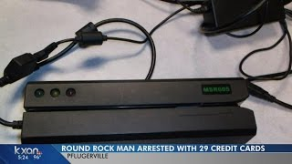 Download Police arrest man who had 29 credit cards and a skimmer on him Video