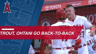 Download Trout and Ohtani smash back-to-back homers Video