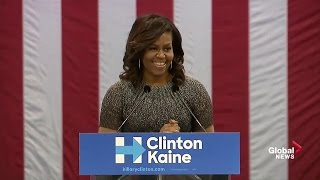 Download Full speech: First Lady Michelle Obama goes after Donald Trump again Video