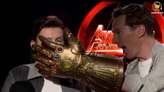 Download Infinity War Cast Goes Crazy with Thanos' Glove! (Anthony Mackie, Benedict Cumberbatch, and others) Video