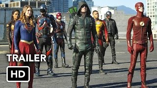 Download The Flash, Arrow, Supergirl, DC's Legends of Tomorrow 4 Night Crossover Event Extended Promo (HD) Video