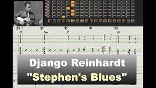 Download Django Reinhardt ″Stephen's Blues″ (1937) - jazz guitar transcription video by Gilles Rea Video