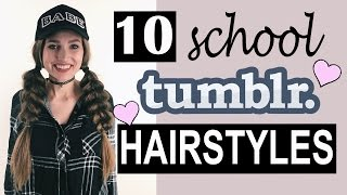 Download 10 Tumblr SCHOOL Hairstyles! ♡ | Courtney Randall Video
