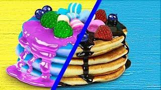 Download Gummy Food vs Real Food Challenge! Video