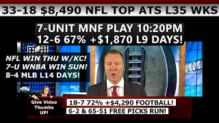 Download FREE MONDAY NIGHT FOOTBALL PICKS – Expert NFL MNF Predictions Vernon Croy 9/11/17 Video