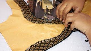 Download Cotton saree blouse back neck design Video