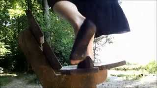 Download Summer Special Hiking with black nylon flats part I Video