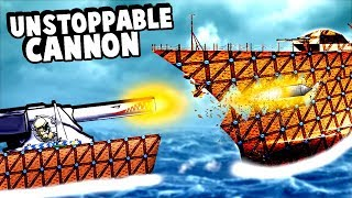 Download Biggest Cannon Ever Becomes Even Bigger and Destroys an Entire Battleship in Forts! Video