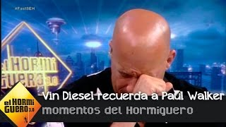 Download Vin Diesel se emociona al recordar a su compañero fallecido, Paul Walker - El Hormiguero 3.0 Video