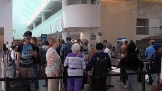 Download Inside the LAX airport terminal swaps Video