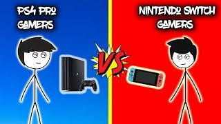 Download PS4 Pro Gamers VS Nintendo Switch Gamers Video