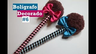Download Bolígrafo Decorado #6 - Pompon coqueto - Tutorial - DIY - AnabelMonGar Video