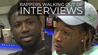 Download RAPPERS WALKING OUT OF INTERVIEWS Video