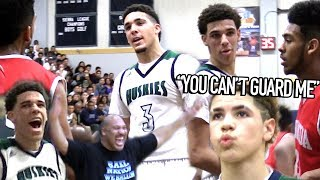 Download Lonzo Ball: ″YOU CAN'T GUARD ME!″ LiAngelo Talking TRASH & LaMelo CRAZY JELLY at 14! Video