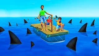 Download TRY TO SURVIVE ON A RAFT TOGETHER! - Raft #1 Video