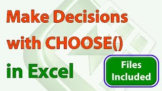 Download Advanced Decision Making using CHOOSE in #Excel Video