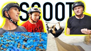 Download PRO GAME OF SCOOT INTO FOAM PIT! Video