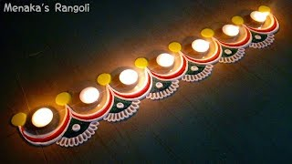 Download Simple Border Rangoli Design For Diwali Video