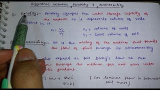 Download Basic difference between porosity and permeability in hindi Video