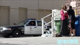 Download Woman Abused In Front Of Cops Prank! Video