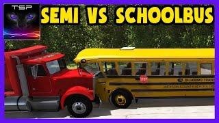 Download BeamNG drive - School Bus vs Semi Truck - Crashes & Destruction Video
