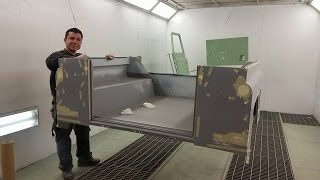 Download Wiegman4x4 Land Rover Defender BODY-OFF restoration with galvanised chassis part 1 Video
