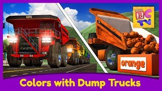 Download Learn Colors with Dump Trucks Part 1 | Educational Video for Kids by Brain Candy TV Video