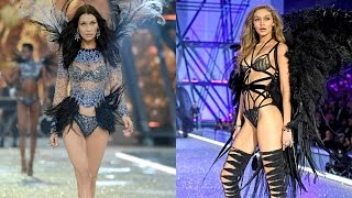 Download Gigi And Bella Hadid Make History at the 2016 Victoria's Secret Fashion Show, Get Emotional Video