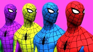 Download Colors for Children to Learn with Spiderman Surprise Toys Animals Learn Colours for Kids Video