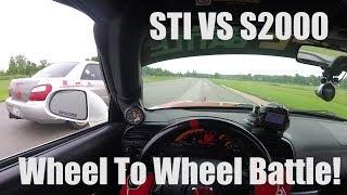Download WHEEL TO WHEEL BATTLE! STI VS S2000 Gridlife Gingerman Video