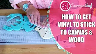 Download I Can't Get Vinyl to Stick to Canvas or Wood Video