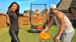 Download FASTEST FRISBEE THROW [82 MPH!!!]   Brodie & Kelsey Video