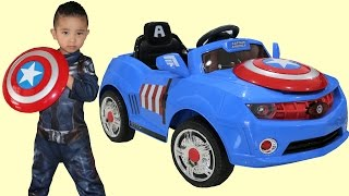 Download Marvel Avengers Captain America Kids Electric Ride On Car 6V Battery Powered Unboxing Ckn Toys Video