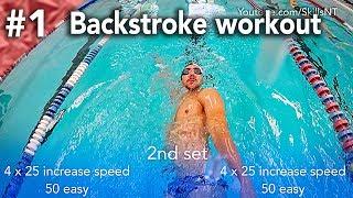 Download Backstroke swimming practice workout #1. Beginner. Backstroke technique Video