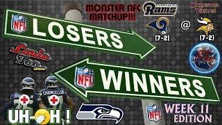 Download WINNERS & LOSERS Ep.17.11.5 | Week 11 NFL PICKS & POOL STANDINGS Video