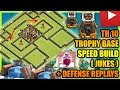 Download Clash Of Clans - Town Hall 10 (TH10) Trophy Base with Bomb Tower + Defense Replays | ANTI 2 STAR Video