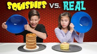 Download SQUISHY FOOD VS. REAL FOOD CHALLENGE!!! Attack of the JUMBO Squishies! Video