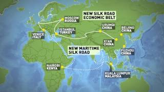 Download One Belt One Road initiative to connect China to Europe Video