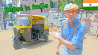 Download Blippi in India   Learning About the Rickshaw Tuk Tuk for Kids Video