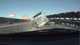 Download Close Call Truck Crash Las Vegas Video
